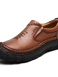 cheap -Men's Cowhide Winter Comfort Loafers & Slip-Ons Black / Brown / Khaki