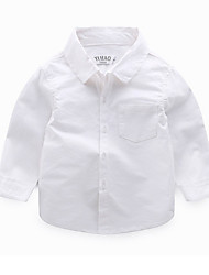 voordelige -Kinderen Jongens Effen Lange mouw Overhemd
