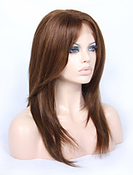 cheap -Virgin Human Hair Full Lace Lace Front Wig Brazilian Hair Straight Layered Haircut 130% 150% Density With Baby Hair Glueless African