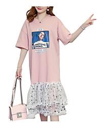 cheap -Women's Basic Little Black Dress - Polka Dot