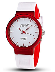 cheap -Men's Quartz Wrist Watch Casual Watch Silicone Band Candy color / Fashion