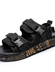 Недорогие -Муж. Легкие подошвы Полотно Лето Удобная обувь Сандалии Черный