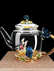 economico -Bicchieri Vetro al boro alto Vaso e bollitore acqua Cartoni animati / Dono fidanzato / regalo fidanzata 1pcs