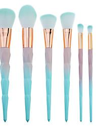preiswerte -7 Stück Makeup Bürsten Professional Bürsten-Satz- Nylonfaser Umweltfreundlich / Weich / Farbverlauf Plastik