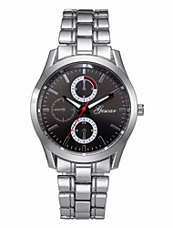 cheap -Men's Dress Watch Chinese Chronograph Stainless Steel Band Fashion Silver
