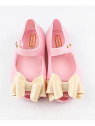 baratos -Para Meninas Sapatos PVC Primavera Verão Plástico Sandálias Laço para Infantil Dourado / Preto / Rosa claro / Festas & Noite