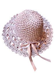 Недорогие -Жен. Классический / Праздник Соломенная шляпа / Шляпа от солнца - Бант Однотонный