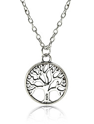 cheap -Pendant Necklace / Chain Necklace  -  Tree of Life, Botanical Vintage, Fashion Gold, Silver 46 cm Necklace For Party / Evening, Gift