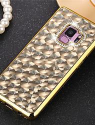 baratos -Capinha Para Samsung Galaxy S9 Plus / S9 Com Strass / Galvanizado Capa traseira Glitter Brilhante Macia TPU para S9 / S9 Plus / S8 Plus
