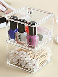 cheap -Plastic Rectangle New Design Home Organization, 1pc Storage Boxes / Makeups Storage / Desktop Organizers