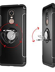 Недорогие -Кейс для Назначение Xiaomi Redmi 5 Plus / Redmi 5 Кольца-держатели Кейс на заднюю панель Однотонный Твердый ПК для Redmi Note 5A / Xiaomi