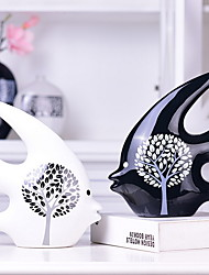 abordables -2pcs Céramique Style européenforDécoration d'intérieur, Décorations pour la maison Cadeaux