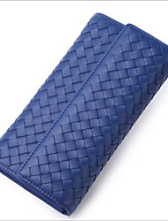economico -Per donna Sacchetti vera pelle Portafogli Cerniera Viola chiaro / Verde militare / Azzurro cielo
