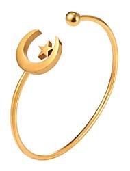 abordables -Bracelets Rigides / Manchettes Bracelets - Lune, Etoile Mode Bracelet Or / Argent Pour Quotidien