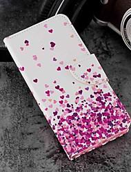 economico -Custodia Per Xiaomi Mi 6X / Mi 5X Porta-carte di credito / A portafoglio / Con supporto Integrale Con cuori Resistente pelle sintetica per