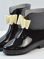 お買い得  -女性用 靴 PVCレザー 春夏 レインブーツ ブーツ チャンキーヒール ラウンドトウ ブーティー/アンクルブーツ のために アウトドア ピンク / アーモンド / バーガンディー