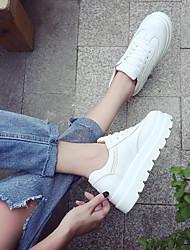 abordables -Femme Chaussures Similicuir Printemps / Automne Confort Basket Creepers pour Blanc / Jaune