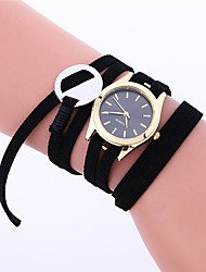 cheap -Women's Fashion Watch / Dress Watch Chinese Chronograph Leather Band Casual / Elegant Black / White / Pink / Stainless Steel / One Year / SSUO LR626