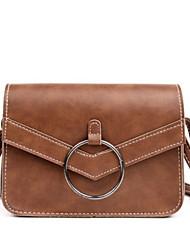 お買い得  -女性用 バッグ PU ショルダーバッグ ボタン のために お出かけ グレー / Brown / Dark Brown