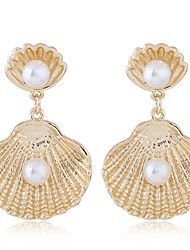 cheap -Women's Drop Earrings - Simple / Fashion / European Gold / Silver Shell Earrings For Party / Daily