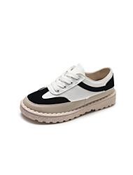 お買い得  -女性用 靴 PUレザー 夏 コンフォートシューズ スニーカー フラットヒール のために スポーツ ブラック / ベージュ / レッド