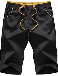 abordables -Homme Basique Chino Pantalon Couleur Pleine