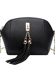 cheap -Women's Bags PU Leather Shoulder Bag Tassel / Zipper for Going out Red / Blushing Pink / Gray