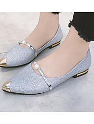 preiswerte -Damen Schuhe PU Frühling / Herbst Komfort Flache Schuhe Flacher Absatz Gold / Schwarz / Silber