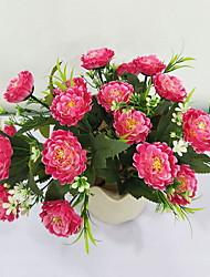 abordables -Fleurs artificielles 1 Rustique Pivoines Arbre de Noël