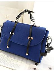 baratos -Mulheres Bolsas Tecido Bolsa Carteiro Botões Azul