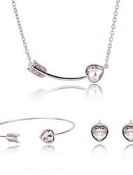economico -Per donna Geometrica Parure di gioielli - Cuori Vintage, Dolce, Di tendenza Includere Oro Per Cerimonia / Strada