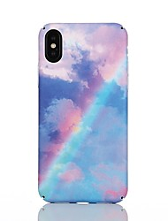 Недорогие -Кейс для Назначение Apple iPhone X / iPhone 8 С узором Кейс на заднюю панель Мрамор Твердый ПК для iPhone X / iPhone 8 Pluss / iPhone 8