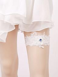 baratos -Gema / Renda De Renda Wedding Garter  -  Elástico Ligas Casamento / Festas & Noite