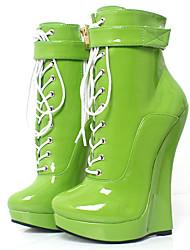 お買い得  -女性用 靴 PUレザー 秋冬 ブーティー / アイデア ブーツ ウエッジヒール ラウンドトウ ブーティー/アンクルブーツ のために パーティー シルバー / パープル / グリーン