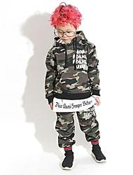 Недорогие -Дети Мальчики Пэчворк Длинный рукав Набор одежды