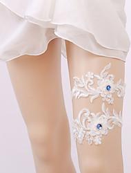 baratos -Gema / Renda Estilo vintage Wedding Garter  -  Elástico Ligas Casamento / Festas & Noite