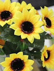 Недорогие -Искусственные Цветы 7 Филиал Стиль Деревня Подсолнухи Корзина Цветы