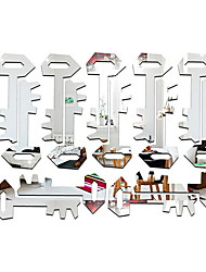 cheap -Decorative Wall Stickers - Mirror Wall Stickers Shapes Living Room / Bedroom