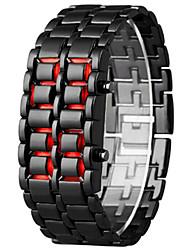 Недорогие -Муж. Жен. электронные часы Цифровой Календарь Секундомер Светящийся сплав Группа Цифровой Cool Мода Черный / Серебристый металл - Белый Черный Один год Срок службы батареи / SSUO LR626