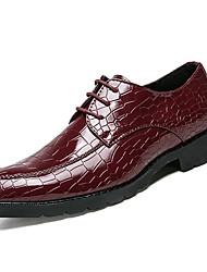 Недорогие -Муж. Платья Наппа Leather Лето Удобная обувь Туфли на шнуровке Черный / Красный