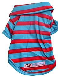baratos -Cachorros / Gatos / Animais de Estimação Camiseta / Camisetas Roupas para Cães Listrado / Padrão / Frases e Citações Fúcsia / Vermelho /