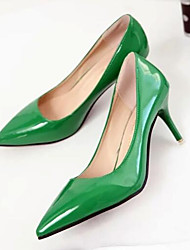 Недорогие -Жен. Обувь Полиуретан Весна лето Удобная обувь Обувь на каблуках На шпильке Красный / Зеленый / Розовый