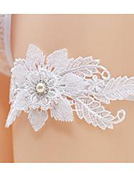 baratos -Renda Casamento Wedding Garter Com Perola Imitação Ligas Casamento / Festa