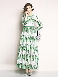 preiswerte -Damen Boho Swing Kleid - Druck, Geometrisch Maxi