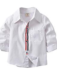 economico -Bambino Bambino (1-4 anni) Da ragazzo A strisce Monocolore Manica lunga Camicia