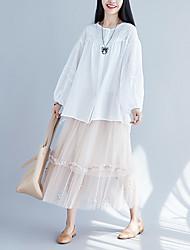 preiswerte -Damen Aktiv Schaukel Röcke - Solide Schwarz & Weiß