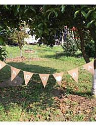baratos -Casamento / Festa / Eventos Linho / Mistura de Algodão Decorações do casamento Tema Praia / Casamento / Letra Todas as Estações