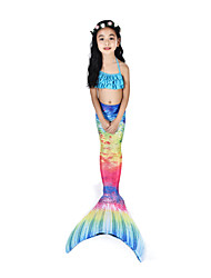cheap -The Little Mermaid Swimwear / Bikini / Costume Women's Halloween / Carnival Festival / Holiday Halloween Costumes Ink Blue Vintage