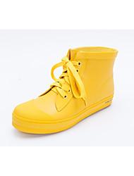 Недорогие -Жен. Латекс Осень Резиновые сапоги Ботинки На низком каблуке Желтый