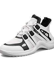 cheap -Men's Net / Tulle / Mesh Summer Comfort Athletic Shoes Color Block White / Black
